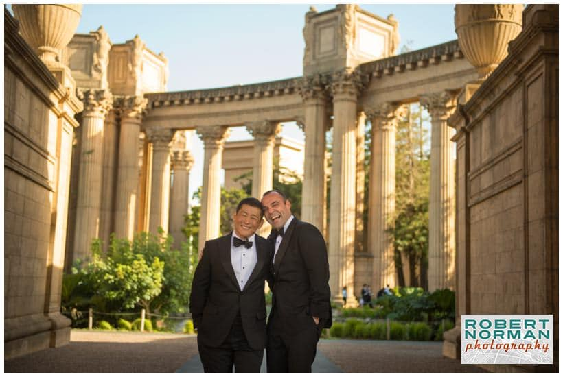 San Francisco gay wedding at the Palace Of Fine Arts