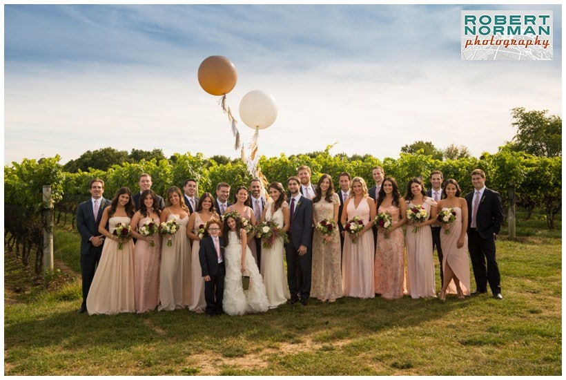 wedding at Jonathan Edwards Winery- Connecticut vineyard