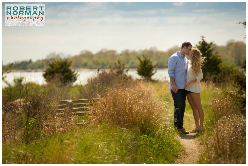 Groton Long Point Ct shoreline engagement session CT wedding photography