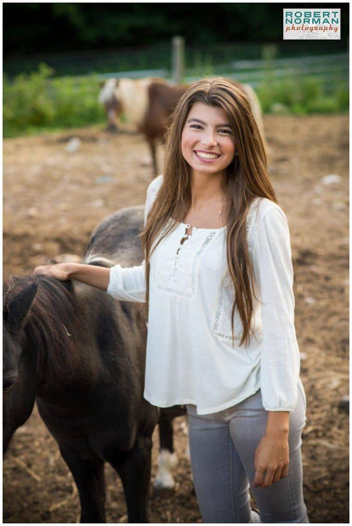 senior photo session on a farm