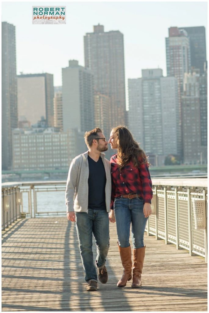 NYC engagement shoot- Queens NY - Astoria waterfront