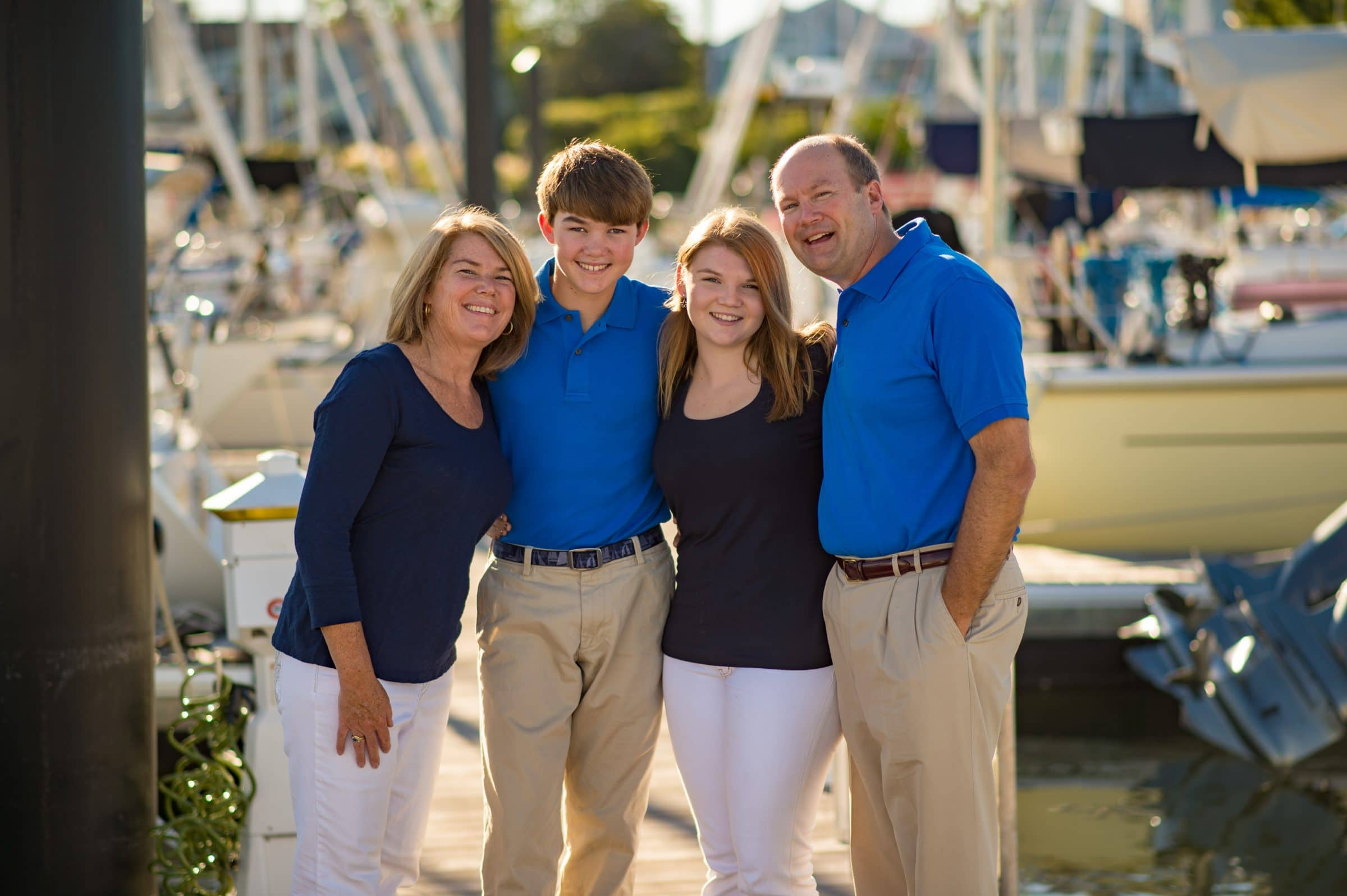 family portrait at yacht club, Norwalk CT
